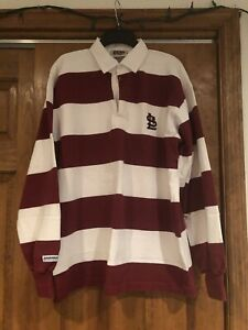 Barbarian Rugby Wear Striped Heavy Polo St. Louis Cardinals Shirt Xl Vintage!