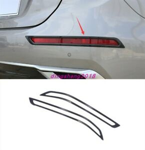 Carbon fiber style Rear Tail Fog Light Lamp Cover Trim For Kia Forte K3 19-2021