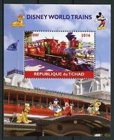 Chad 2016 CTO Disney World Trains 1v M/S I Railways Cartoons Stamps
