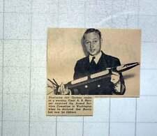 1949 Cmdr Ab Metsger Displaying German Rocket