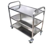 TECHTONGDA 3 Shelf Utility Cart Kitchen Stainless Steel Serving Cart
