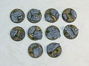 40mm Slate scenic resin bases X5 wargames Sci-fi scenery by Daemonscape