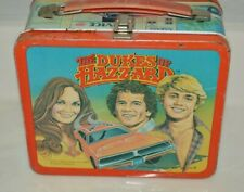 Vintage 1980 The Dukes of Hazzard TV Show General Lee Metal Lunchbox C7+