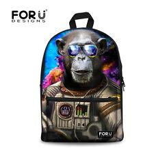 824b2059e9 Cool High School Canvas Shoulder Bag Girls Boys Backpack Travel Satchel  Rucksack