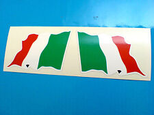 ITALY ITALIAN Wavey Flag  Motorcycle Helmet  Car Stickers Decals 2 off 60mm