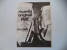 advertising Pubblicità 1964 RICAMBI FIAT e FIAT 1500