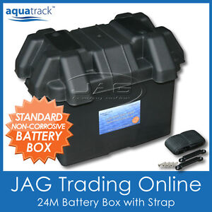 AQUATRACK 24M STANDARD BATTERY BOX HOLDER - Boat/Marine/Car/Truck/Caravan/4x4