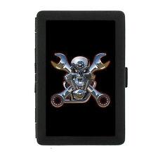 Black Metal Cigarette Case Holder Box Skull Design-009