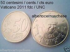 50 centesimi euro 2011 fdc UNC VATICANO Vatican Vatikan da rotolino Ватикан
