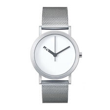 "Normal Timepieces ""Extra Normal"" Quartz Acier Inox Maille Blanc Montre Femme"