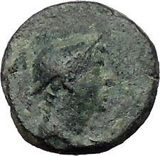 AIGAI in AEOLIS 2-1CenBC Hermes Goat Genuine Authentic Ancient Greek Coin i56298