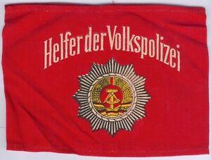 East German Orig. Armbinde Helfer der Volkspolizei -mit Aufdruck, handgenäht