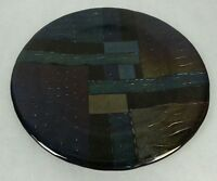 Multi-colored Glass Charger Plate Signed Art Glass Dichroic Iridescent