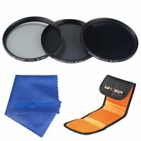 K&F Concept 77mm ND Filter Lens Kit ND2 ND4 ND8 Neutral Density Camera Accessory