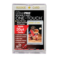 "(5) ULTRA PRO UV CLEAR ONE-TOUCH MAG 35 PT w/ ""ROOKIE"" MAGNETIC CASE (LOT OF 5)"