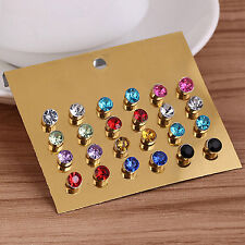 12 Pair No Piercing Clip On Magnetic Magnet Ear Studs Mens Womens Earrings Newly