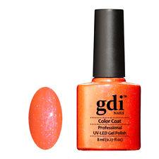 "gdi NAILS Neon Range"" N21-ORANGE BURST ""UV/LED Soak Off Gel Nail Polish.UK Brand"