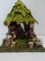 OOAK Handcrafted Fairy Garden, Fairy House Display, Miniatures