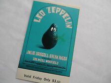 LED ZEPPELIN 1969 Original FILLMORE CONCERT TICKET - San Francisco