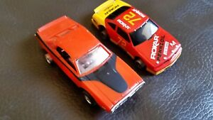 Tyco slot cars 69 Charger & #72 Rocar