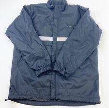 NIke Winter Jacket Mens XL Black Ski Coat Fleece Lined Full Zip