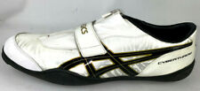 Asics Cyber Throw London Size Mens US 14 White Black and Gold Trim G207Y