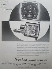 6/1945 PUB SANGAMO WESTON AIRCRAFT INSTRUMENTS BLIND APPROACH INDICATOR AD
