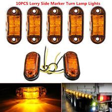 10Pcs Amber 2LED Clearance 12V/24V Vehicle Trailer Truck Side Marker Turn Light