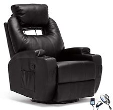 Electric Recliner Sofa Massage Chair Ergonomic Lounge Swivel Heated With  Control