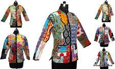 10Pc Wholesale Lot Quilted Jacket Patchwork Cotton Blazer Reversible Winter Coat