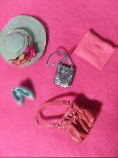 Vtg Barbie Pink & Silver Hat, Purses & Accessories!