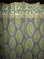 WORLD MARKET BOHEMIAN BOHO PAISLEY GRAY YELLOW FLORAL SHOWER CURTAIN 70 X 70