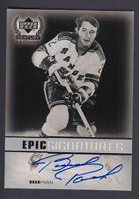 Brad Park 1999-00 Upper Deck Century Legends Epic Signatures on Card Autograph