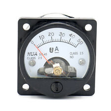 SO-45 Genauigkeit DC 50uA Zifferblatt Analog Panel Meter Ammeter Amperemeter