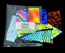 CBS 90 COE 1lb. Wissmach Standard 3mm Thickness Black Dichroic Scrap Bag