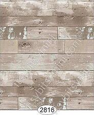 3109 DOLLHOUSE WALLPAPER 1:12 SCALE WOOD FLOORING-WALNUT VERTICAL STRIPES