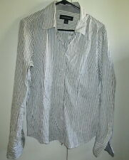 Luca & Marc Size 14 Button Front Long Sleeve Shirt Top Cotton Blend Stripes