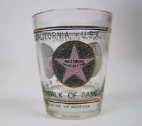 Shot Glass Hollywood Walk of Fame Star on the Boulevard Gold Black White