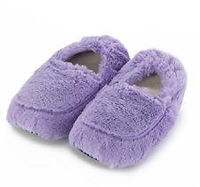 Intelex Pink Cozy Plush Microwavable Slippers Heatable Furry Feet Warmer