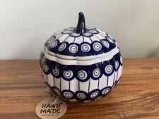 Canister pumpkin Handmade Polish pottery Boleslawiec