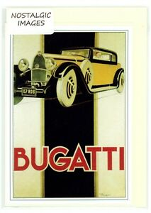 1930's Bugatti.Nostalgic greeting card.Hand made,blank inside for many occasions