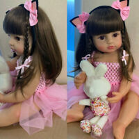 55cm Full Body Silicone Vinyl Reborn Doll Girl Newborn Toddler Baby Waterproof