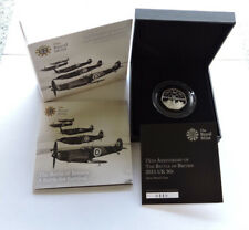 More details for 2015 royal mint silver proof 50p battle of britain cased with coa and outer box