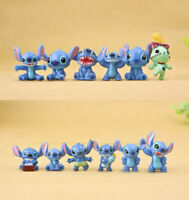 12Pcs Disney Anime Lilo & Stitch Action Figure Collectible Toy Kids Xmas Gift