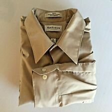 Van Heusen Mens 16 34/35 Beige Long Sleeve Dress Shirt