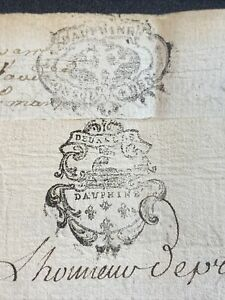 LOT OF TWO MANUSCRIPTS 1700s