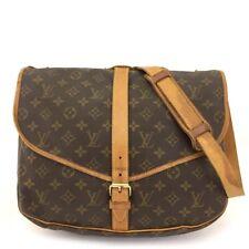 100% Authentic Louis Vuitton Monogram Saumur 35 Cross body Shoulder Bag /40882