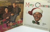 Bing Crosby Merry Christmas / Songs Of Christmas LP's Decca DL 34461 + MCA-15024