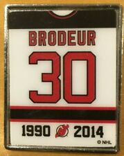Martin Brodeur #30 Jersey Banner Retirement Night Pin NJ Devils