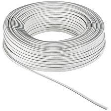 30m Ring 2,5 Hifi Lautsprecherkabel weiß  2x2,5mm² Boxenkabel